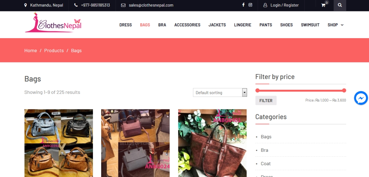 list of online shopping sites in Nepal