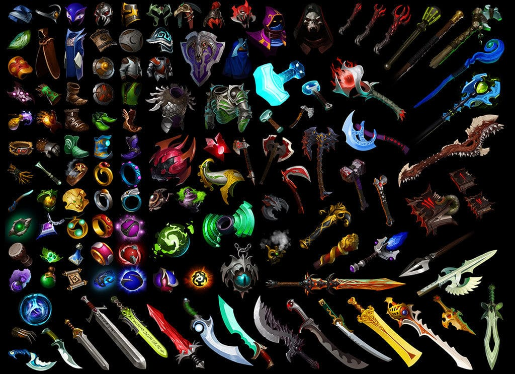 best MOBA games Dota 2 weapons