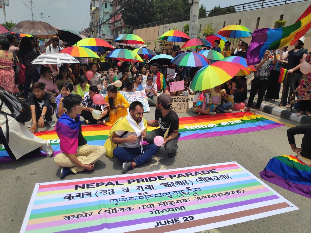 Pride parade in Nepal
