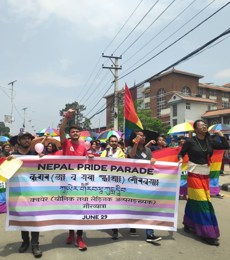 Pride parade in nepal 2019