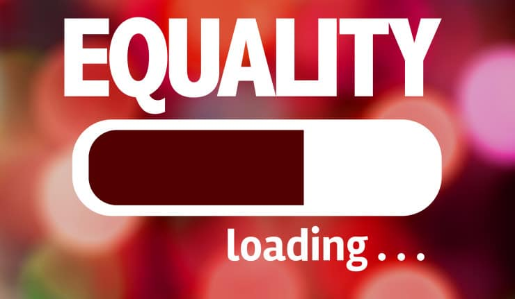 Progress Bar Loading with the text: Equality and Women Empowerment issues
