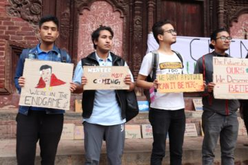 Climate change strike in Basantapur