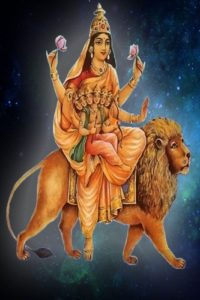 Nine forms of goddess Durga Devi Skandamata