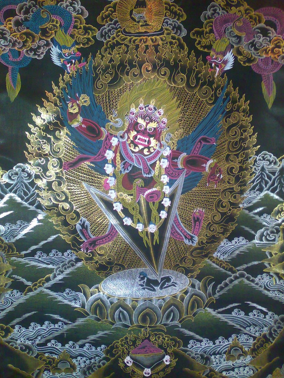 Thangka of a buddhist deity
